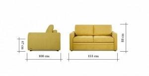 Выкатной диван Pushe Бруно 130